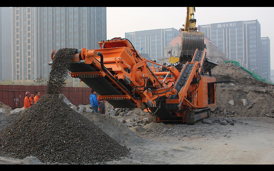 Innovative Recycling Project In The City Centre Of Beijing with Rocksters Most Compact Impactor R700S