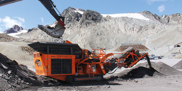 R700S Crushing Asphalt on a Glacier