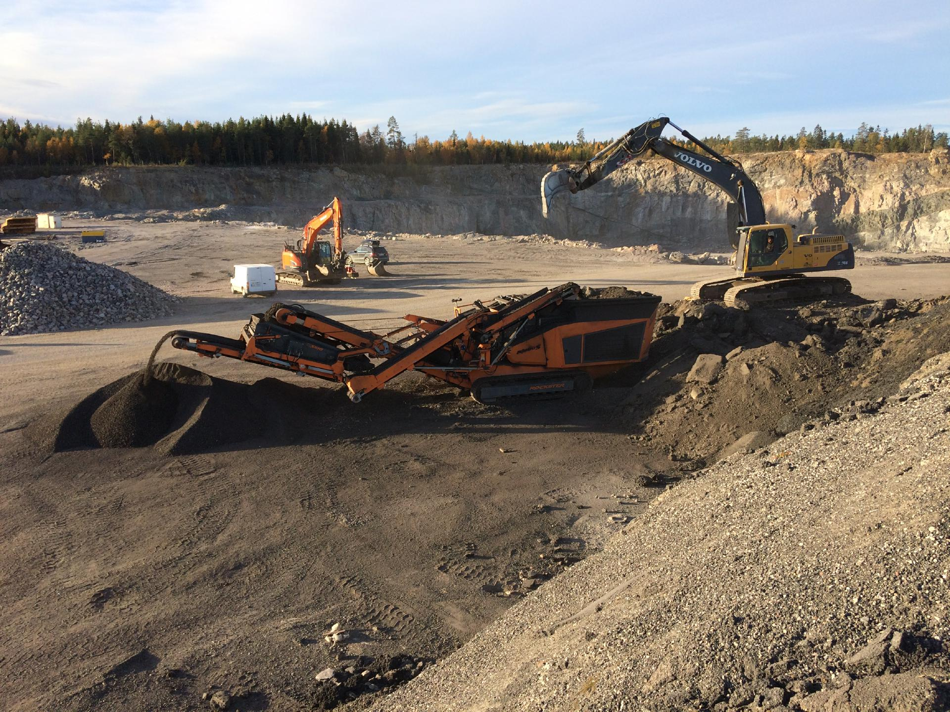 R1000S recycling Asphalt in Schweden