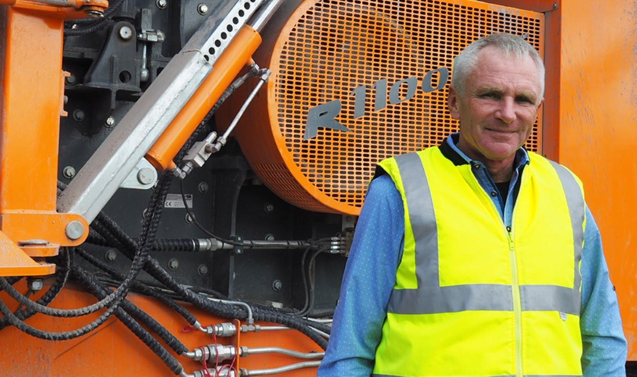 Richard Forster - Recycling with the impact crusher R1100DS